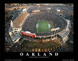 Oakland Raiders Oakland Coliseum Sports Poster by Mike Smith