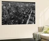 New York City Empire State Building Facing East by Henri Silberman Mini Mural Huge Poster Print Mural de papel de parede