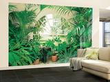 Wintergarten mit tropischen Pflanzen Fototapete Wandgemälde