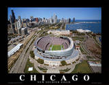 Chicago Bears New Soldier Field Sports Kunst av Mike Smith