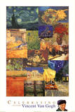 Vincent Van Gogh 150 Years Collage Art Print Poster Poster