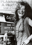 Janis Joplin Planning a Party Music Poster Print Stampa