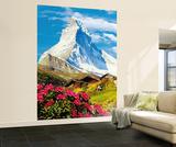 Matterhorn Huge Wall Mural Art Print Poster Mural de papel de parede