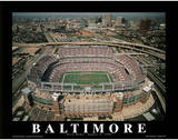 Baltimore Ravens First Game August 8, c.1998 Sports Plakat av Mike Smith
