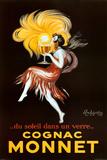 Leonetto Cappiello Cognac Monnet Vintage Ad Art Print Poster Julisteet
