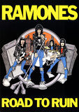 Ramones Road to Ruin Music Poster Print Stampa