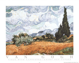 Champ Aux Cypress Prints by Vincent van Gogh