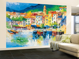 Riviera Ligure por Antonio di Viccaro - Mural de papel pintado Mural de papel pintado
