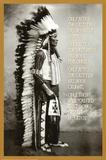Chief White Cloud (Native American Wisdom) Art Poster Print Kunstdruck