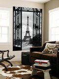 La Tour Eiffel Tower Paris Gates Mini Mural Huge Poster Art Print Mural de papel de parede