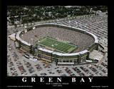 Green Bay Packers Old Lambeau Field, c.1957-2003 Sports Plakater av Mike Smith