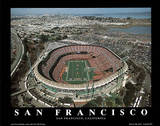 San Francisco 49ers Candlestick Park Sports Kunst av Mike Smith