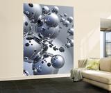 Trevor Scobie Silver Orbs Huge Wall Mural Art Print Poster Mural de papel de parede