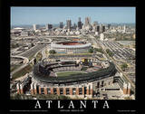Atlanta Braves Turner Field First Game March 29, c.1997 Sports Print by Mike Smith