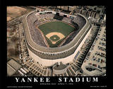 New York Yankees Old Yankee Stadium Opening Day April 7, c.1992 Sports Poster by Mike Smith