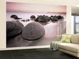 Steine am Strand Kunstdruck Fototapete Wandgemälde