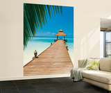 Sakis Papadopolous Paradise Beach Huge Wall Mural Art Print Poster Mural de papel de parede