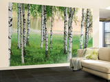 Nordic Forest Huge Wall Mural Art Print Poster 壁紙ミューラル