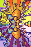 Psychedelic Mushroom Art Poster Print Julisteet