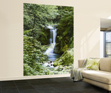 Waterfall in Spring Huge Wall Mural Art Print Poster Tapettijuliste