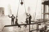 New York City (Men on Girder, Lunch Above Manhattan) Art Poster Print Posters