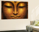 Siddhartha Buddha Mini Mural Huge Poster Art Print Mural de papel de parede