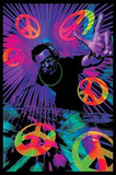 DJ Peace Signs Blacklight Poster Print Print