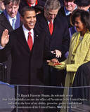 President Barack Obama Inauguration Art Print Poster Pôsters