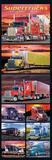 Supertrucks (Semi Trucks, Door) Art Poster Print Plakater