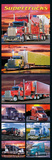 Supertrucks (Semi Trucks, Door) Art Poster Print Posters