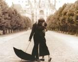 Parisian Kiss Lovers Art Print Poster Print