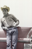 Paul Newman on Cadillac Art Print Poster Photo