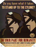 Battlestar Galactica Do Your Part for Humanity TV Poster Print Posters