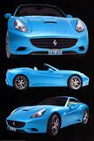 Ferrari California Blue Art Print Poster Kunstdruck