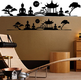 Asian Feeling 14 Wall Stickers Autocollant mural