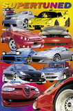 Supertuned (Race Cars) Art Poster Print Posters