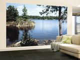 Lake in the Woods Wallpaper Mural
