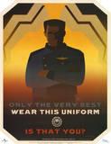 Battlestar Galactica Only the Very Best Wear this Uniform TV Poster Print Plakat