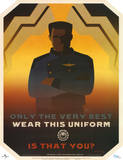 Battlestar Galactica Only the Very Best Wear this Uniform TV Poster Print Stampa
