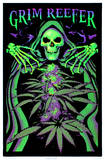 Grim Reefer Marijuana Pot Blacklight Poster Print Print