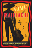 Live Mairiachi Free Music Every Night Plaque en métal
