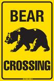 Bear Crossing Plaque en métal