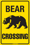 Bear Crossing Blechschild