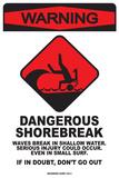 Warning Dangerous Shorebreak Blechschild