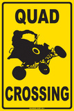 Quad Crossing Placa de lata