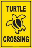 Turtle Crossing Tin Sign