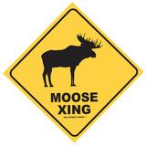 Moose Xing Blechschild