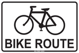 Bike Route Tin Sign
