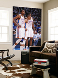 Oklahoma City, OK - June 2:  Kevin Durant, Russell Westbrook and Serge Ibaka Wall Mural by Andrew Bernstein