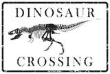 Dinosaur Crossing Blikkskilt